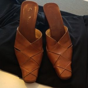 Mule shoes sz 6  Real leather